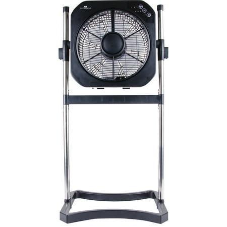 Air Innovations 12-inch SwirlCool Box Fan w/ Cord Wrap (Black)