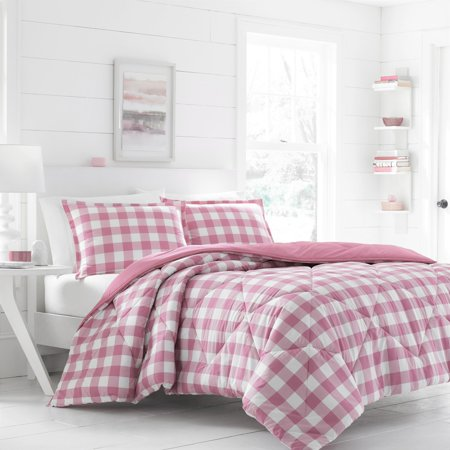 poppy fritz gingham light pink comforter set. Black Bedroom Furniture Sets. Home Design Ideas