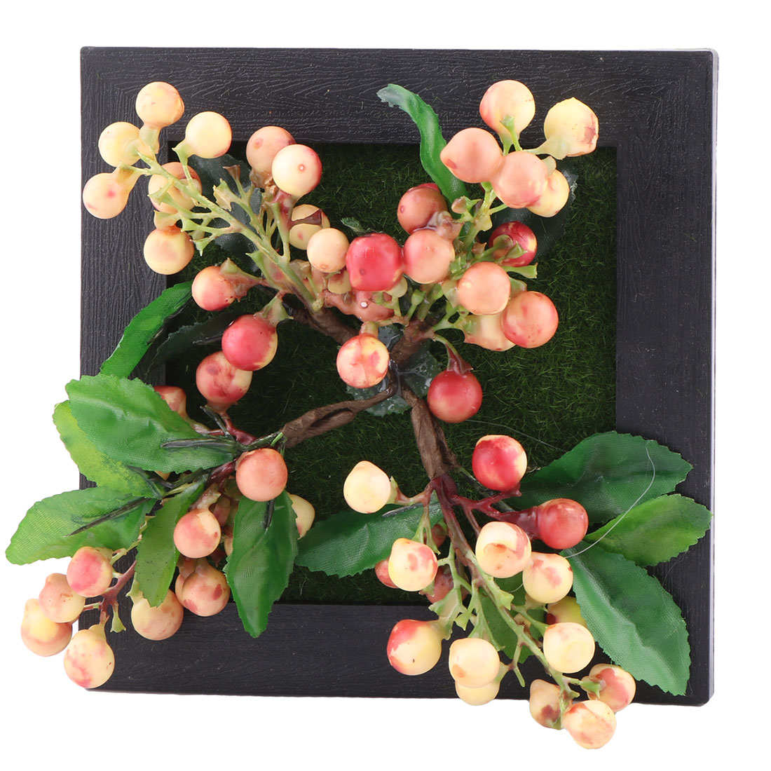 Family Plastic Rustic Style Wall Hanger Artificial Succulent Plant Flower Frame