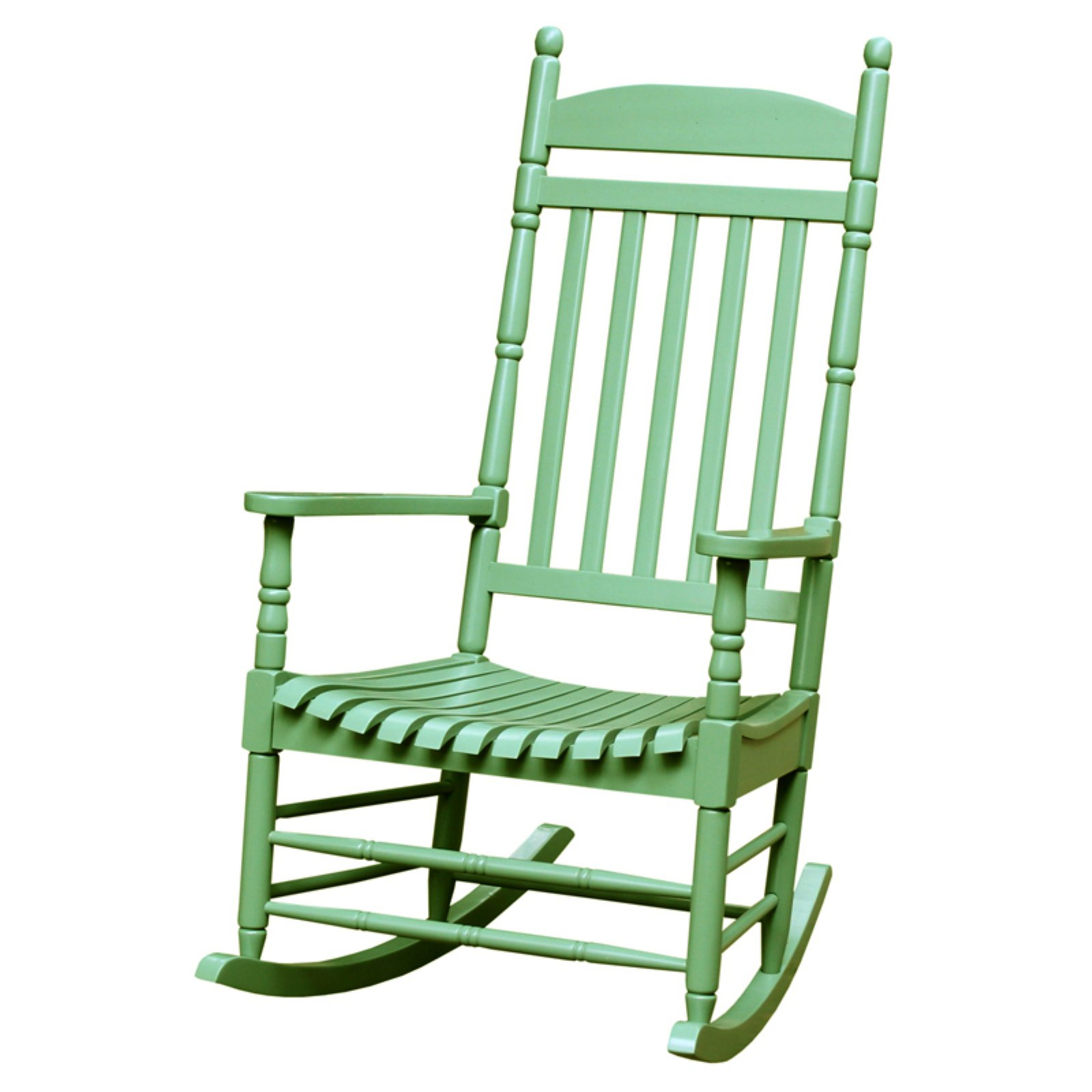 International Concepts Porch Rocker, Turned Post, Solid Wood, Moss
