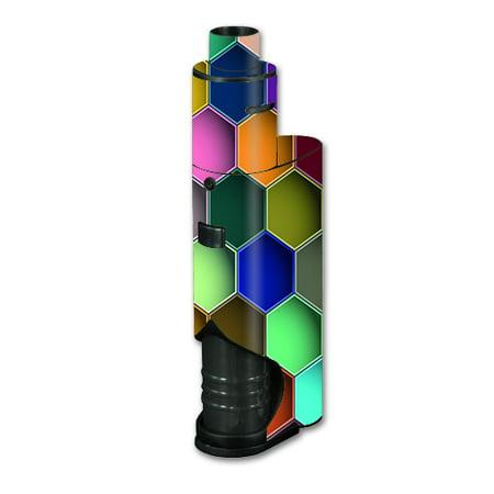 Skin Decal Vinyl Wrap For Kanger Dripbox Vape Mod Box / Colorful Octagon  Pattern