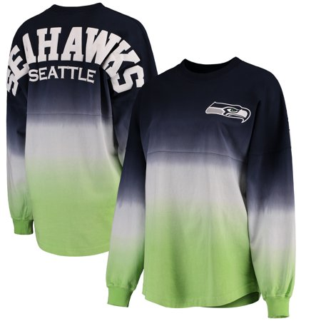 Seattle Seahawks NFL Pro Line by Fanatics Branded Women's Spirit Jersey  Long Sleeve T-Shirt - College Navy/Neon Green