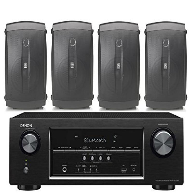 Denon 5.2 Channel 700-Watt Full 4K Ultra HD Bluetooth AV Home Theater Receiver + Yamaha High-Performance Natural... by Yamaha
