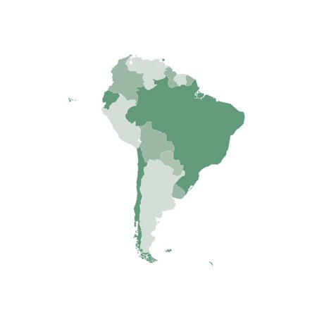 South America Map Print Wall Art By Refe Walmart Com