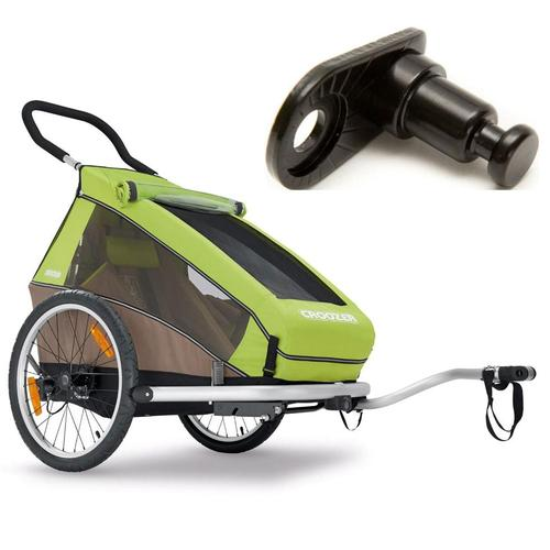 Croozer- 121990416KT -Kid For 2 Bicycle Trailer- Includes Extra Hitch Round- Mea