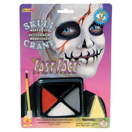 Skull Makeup Kit Rubies 18225 - Easy Halloween Makeup Tutorial Skull