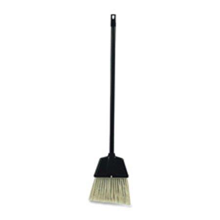 Angled Broom, for Lobby Dust Pan Kit, Plastic, Black