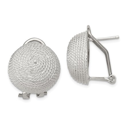 Omega Silver Jewelry Box - Roy Rose Jewelry Sterling Silver Omega Back Earrings