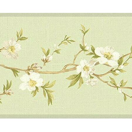 Blossom Wallpaper Border (879066 Cherry Blossom Orchard Wallpaper Border)