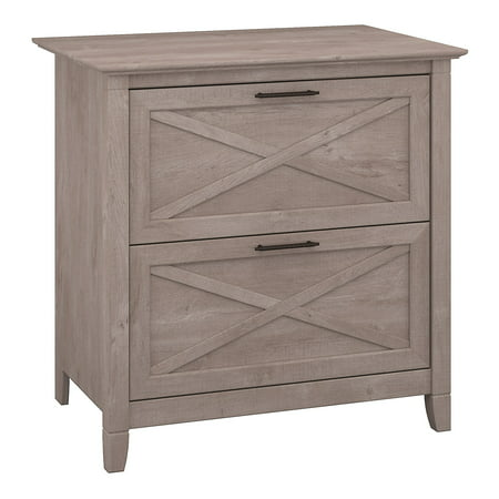 Bush Furniture Key West 2 Drawer Lateral File Cabinet in Washed