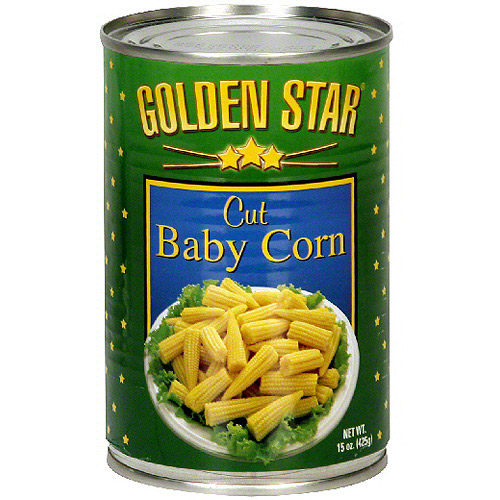 Golden Star Cut Baby Corn, 15 oz (Pack of 12)