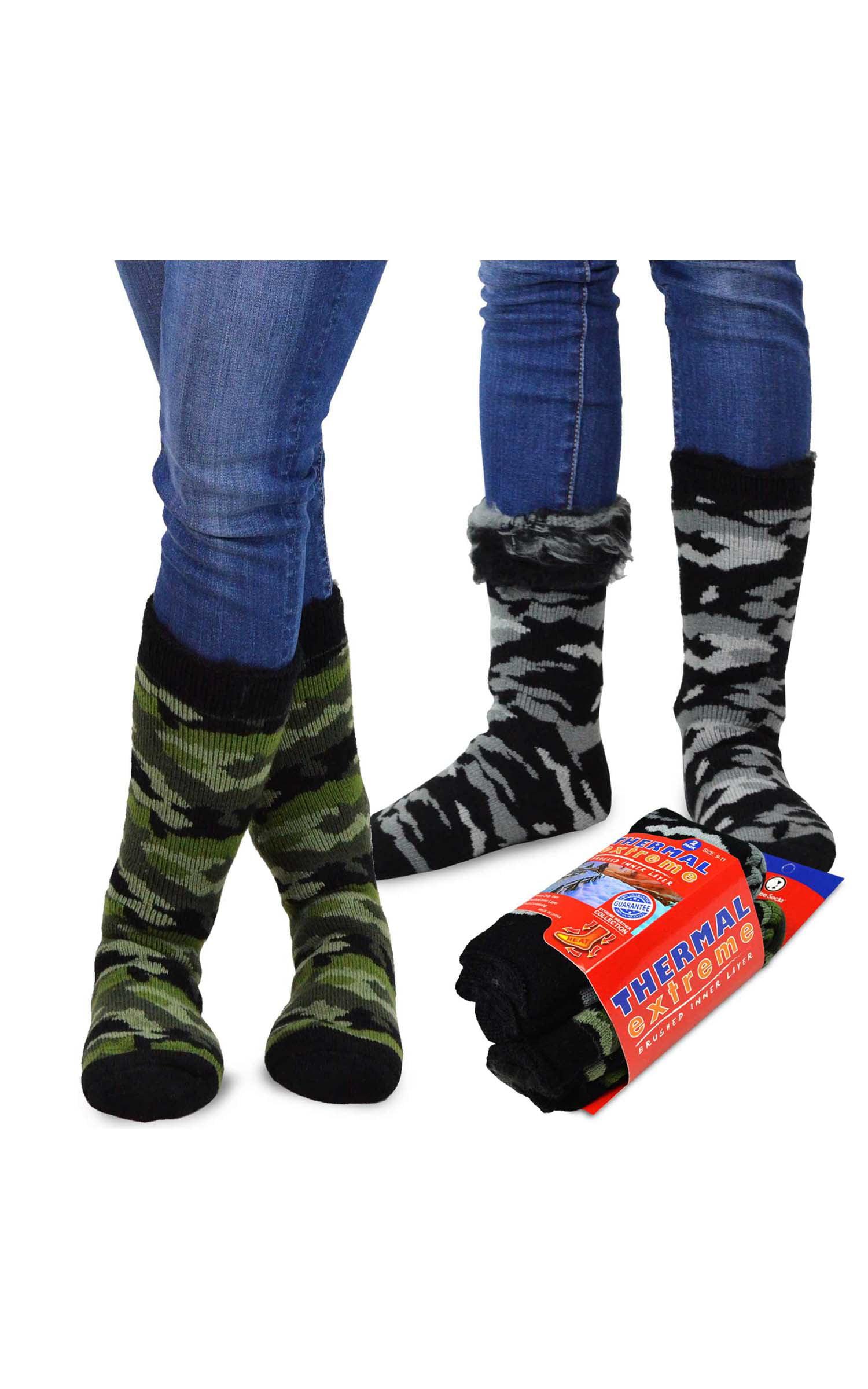 New 6 pack Ladies Women's Winter Warm Brushed Thermal Boot Walking Socks