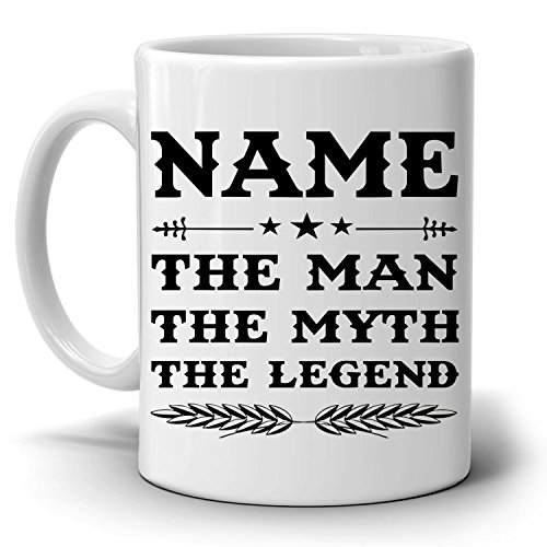 Personalized Papa The Man The Myth The Legend Coffee Mug Gift For Dad And Grandpa Perfect Present For Birthday Christmas And Fathers Day Walmart Com Walmart Com
