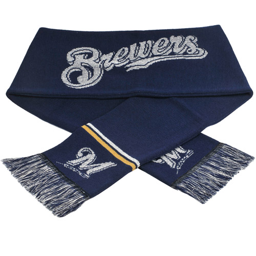 Forever Collectibles MLB Glitter Scarf, Milwaukee Brewers