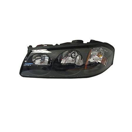 2000-2004 Chevrolet Impala  Driver Side Left Head Lamp incl Black Bezel and Center Bulb Shield (Impala Headlight Bezel)