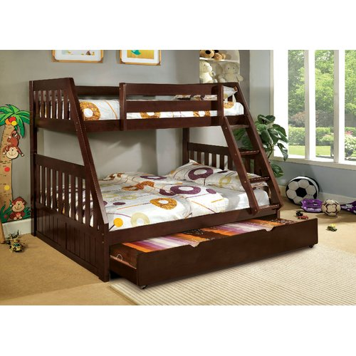 Harriet Bee Clack Twin over Full Bunk Bed with Trundle