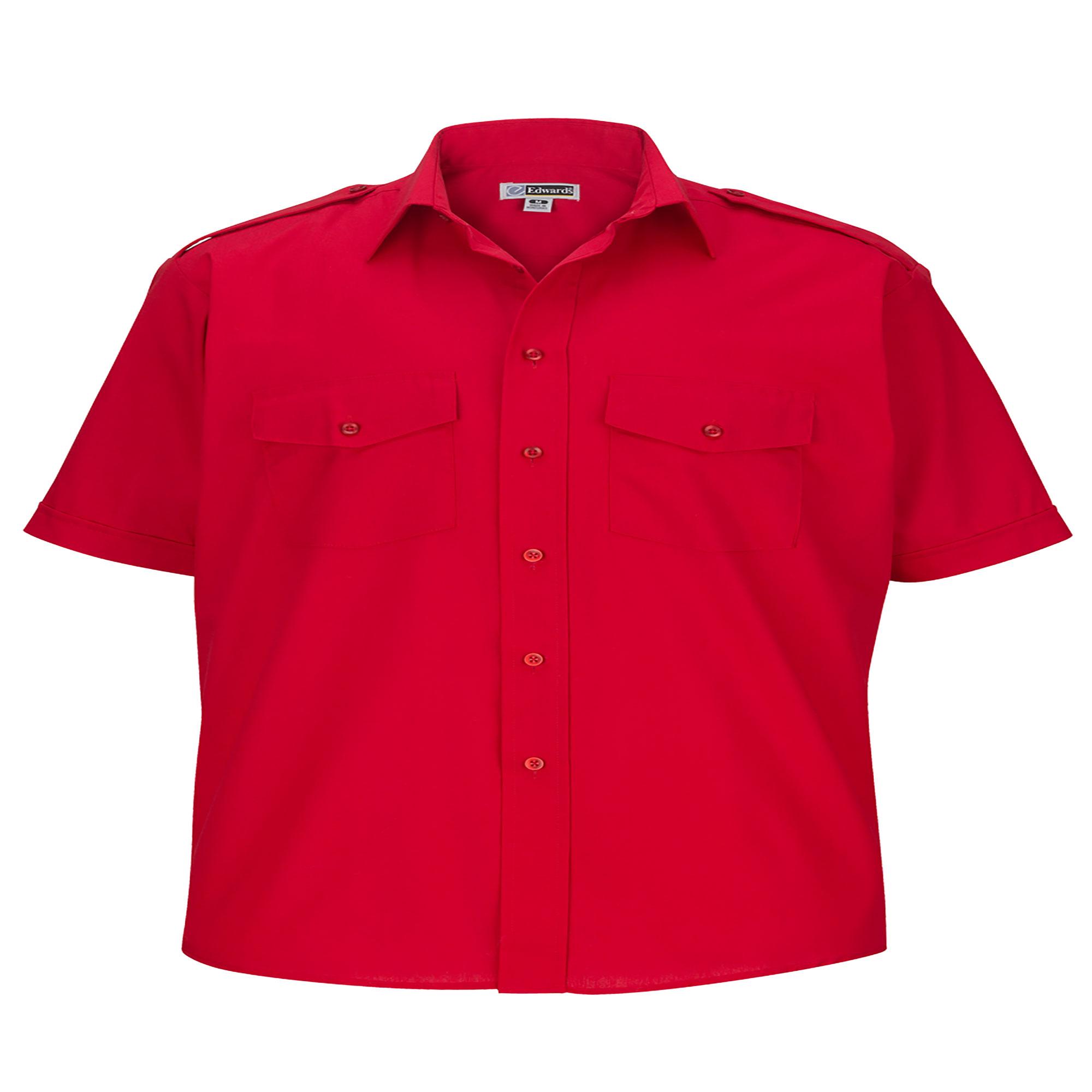 Edwards Garment Men's Big And Tall Point collar Safari Poplin Shirt, Style 1215