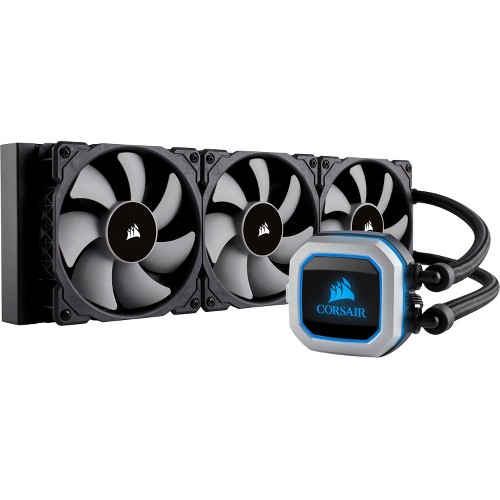 Corsair H150i PRO Cooling Fan Radiator 120 mm 1600 rpm47.3 CFM 25 dB(A) Noise Liquid Cooler Cooler Socket AM3... by Corsair
