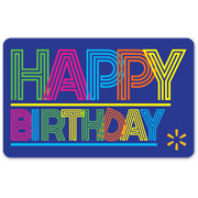 Neon Birthday Walmart Gift Card