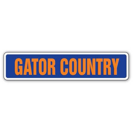 GATOR COUNTRY Street Sign gators fan aligator lover football | Indoor/Outdoor | 18