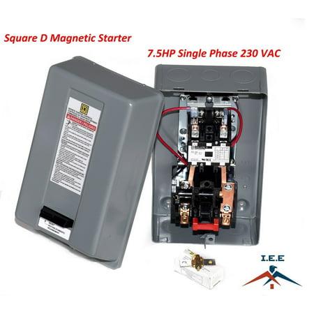 SQUARE D MAGNETIC STARTER CONRTROL ELECTRIC MOTOR 8911DPSG42V09 7.5HP 1-PH 230V (10a Motor)