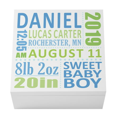 Personalized Baby's Precious Memories Box 12