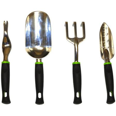 Handle Garden (G & F Heavy Duty Aluminum Cast Garden Tool Set with Soft Grip)
