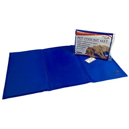 Peppy Pooch Pet Cooling Mat - Soft Gel Comfort For Dogs. Durable, Safe, Non-Toxic & Easy To Clean. Large Size (35â€x 20â€)