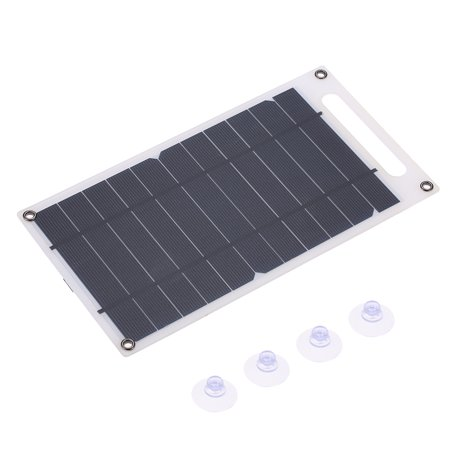 7.8W Portable Ultra Thin Monocrystalline Silicon Solar Panel Charger USB Port for Cell Phone Outdoor Camping Climbing