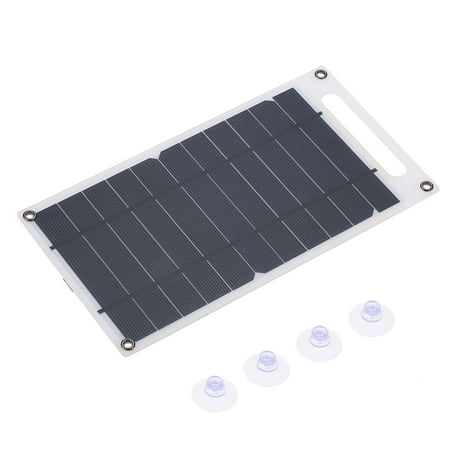7.8W Portable Ultra Thin Monocrystalline Silicon Solar Panel USB Port for Cell Phone Outdoor Camping Climbing Hiking - image 1 of 7