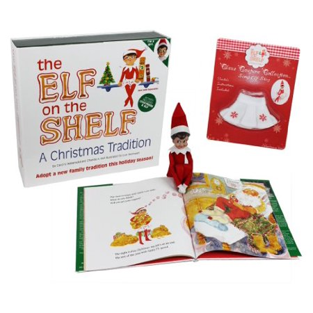 The Elf on the Shelf - Girl Elf Edition with North Pole Blue Eyed Girl Elf and Girl-character themed Storybook with Snowflake Skirt - Elf On The Shelf Adult