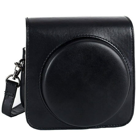 Epicgadget Fujifilm Instax Square SQ6 Instant Film Camera Case, Premium Soft PU Leather Bag Protective Case for instax square sq6 with Adjustable Shoulder Strap (Black)