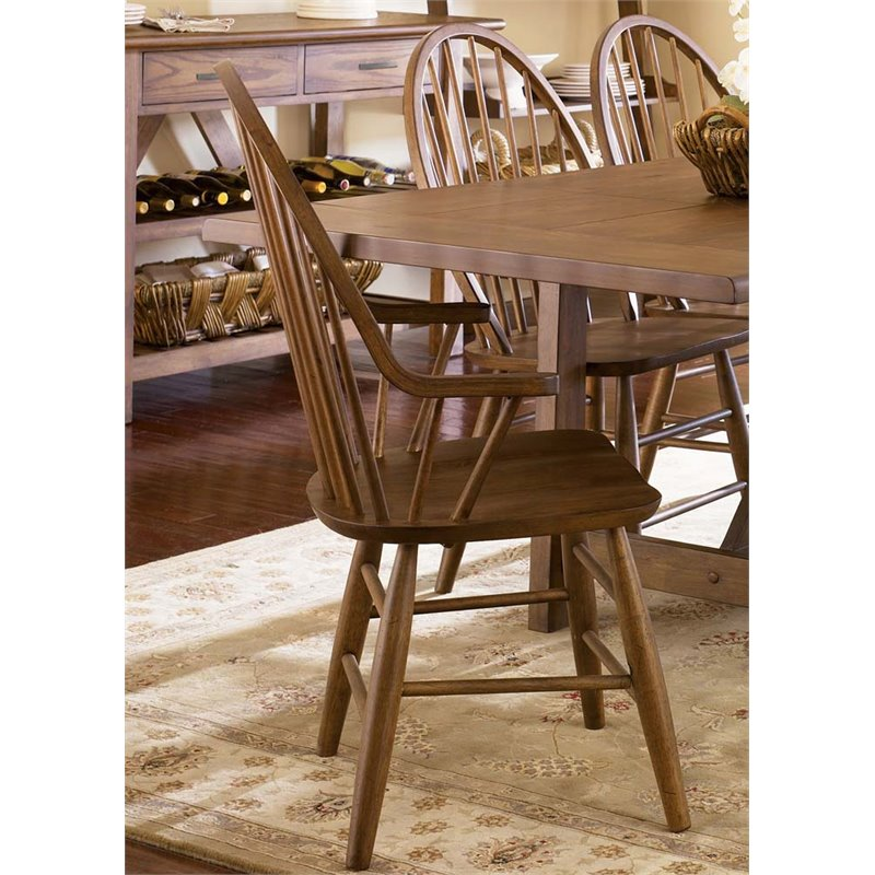 Liberty Furniture Farmhouse Windsor Back Dining Armchair in Oak by Liberty Furniture