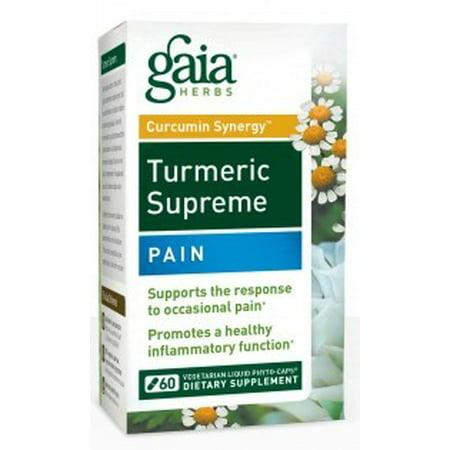 Gaia Herbs Curcumin Synergy Turmeric Supreme Pain Liquid, 60