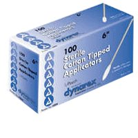 Cotton Tipped Applicators By Dyanarex, Sterile, 6 Inches - 2 / Pouch, 100 / Box, 10 Boxes / Case