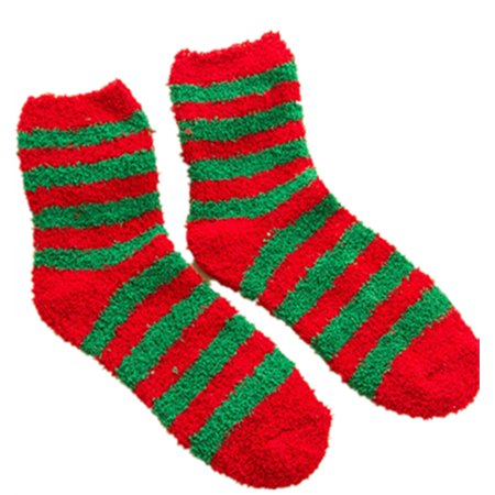womens coral velvet home sock sleeping socks warm winter christmas socks - Walmart Christmas Socks