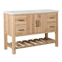 Bellaterra Home 48 in Single sink vanity-solid fir-natural