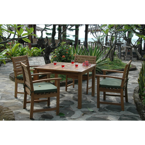 Anderson Teak Montage 5 Piece Dining Room Set by Anderson Collection