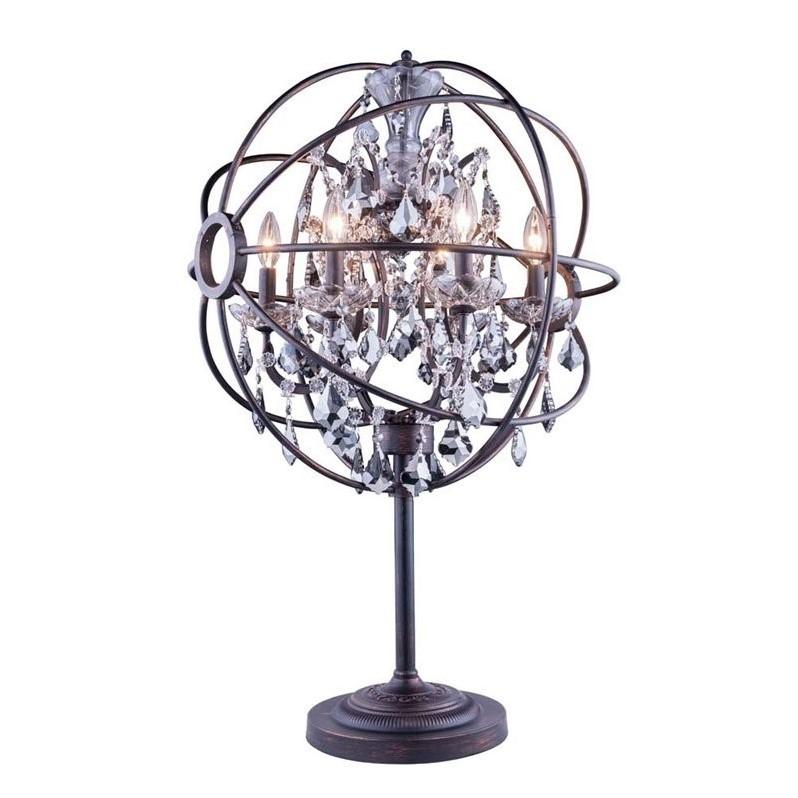 "Elegant Lighting Geneva 34"" 6 Light Royal Crystal Table Lamp - image 1 of 1"