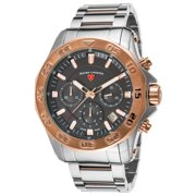 16199Sm-Sr-104-Rb Islander Chronograph Two-Tone Stainless Steel Black Dial Watch