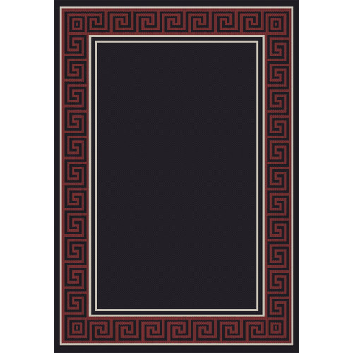 Crescent Drive Rug Company Piazza Black/Red Area Rug