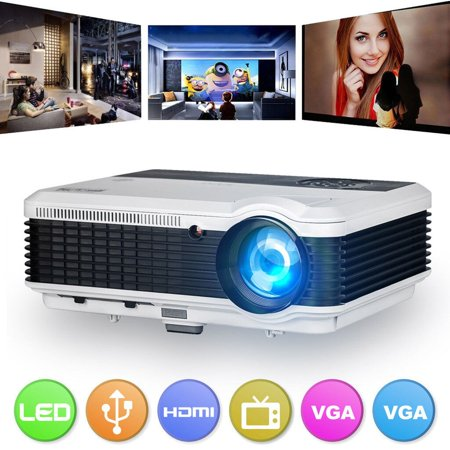 Smart Wireless Bluetooth Projector Home Cinema Theater HD 1080P 6000 Lumens Multimedia LED Wifi Video Movie Game Projector For Android TV DVD