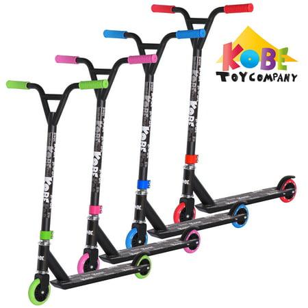 KOBE EDGE Kick Pro Scooter 2 Wheel - Reinforced Steel - Curved T-bar - Teens, Kids 5-yo and above - Blue - image 4 de 11