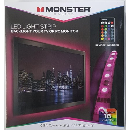 Monster Color Changing USB LED Light Strip - 6.5ft