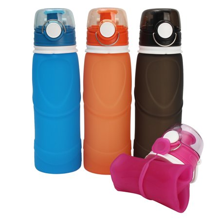 Collapsible Water Bottle 20oz BPA-Free Leak-Proof Lightweight Silicone Sports Travel Camping Water Bottles](Collapsible Water Bottles)