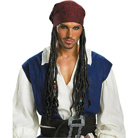 Pirates of the Caribbean Jack Sparrow Headband with Hair Adult Halloween Accessory - Halloween Jack In The Box Head