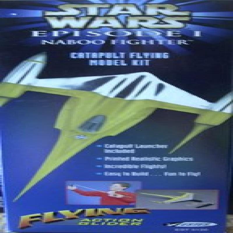 Estes Star Wars Naboo Fighter Catapult Flying Model Glider by
