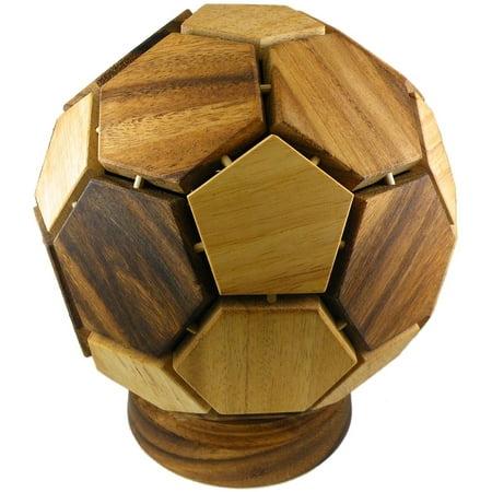 Mondial Soccer Ball - 3D Wooden Puzzle Brain Teaser - Brain Balls