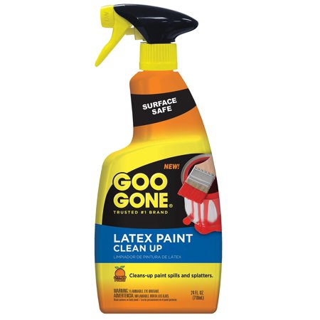 Goo Gone Latex Paint Cleaner, Surface Safe Clean Up Spray For Wet or Dry Paint, 24 Ounce Latex Paint