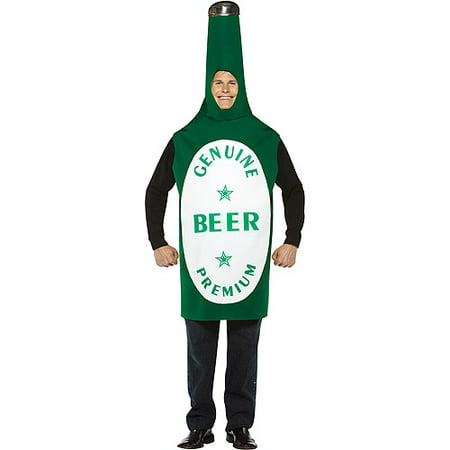 Beer Bottle Adult Halloween Costume - Beer Maid Halloween Costume